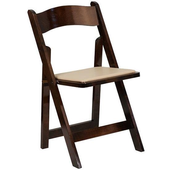 Folding chair, fruitwood