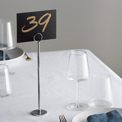 """12"""" high table card holder"""