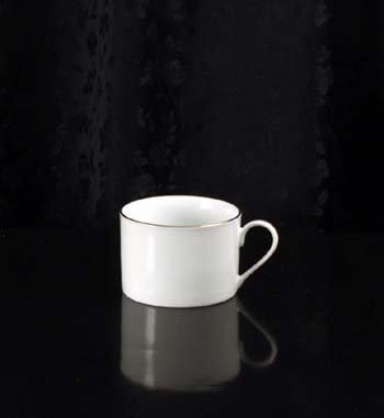 8oz gold rim coffee cup