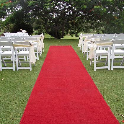 Red carpet, 25' x 3'