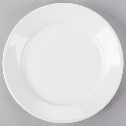 "8 1/4"" White salad plate, pack of 10"