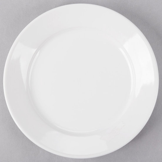 "8 1/4"" White China salad plate"