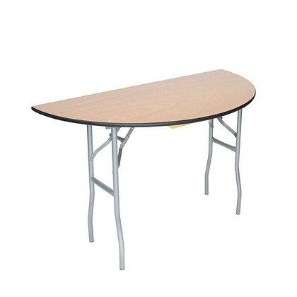 "Half round table, 60"""