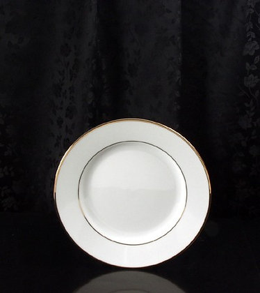 "8 1/4"" gold rim salad plate, pack of 10"
