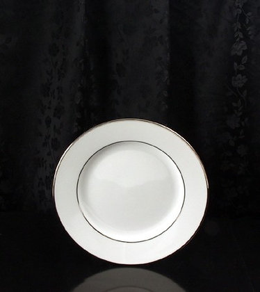 "8 1/4"" Platinum rim salad plate, pack of 10"