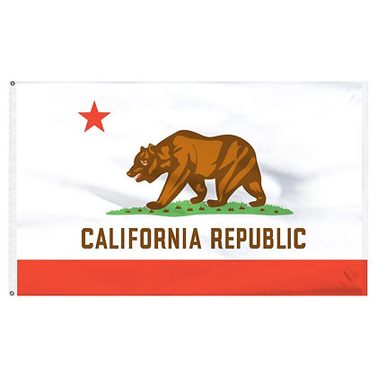California Flag and pole, 3x5