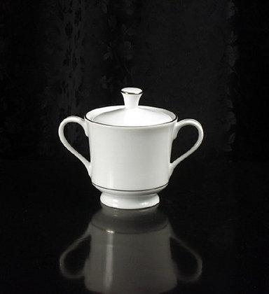 Platinum rim sugar bowl