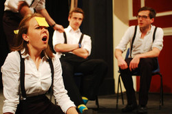 The 2012/13 Revue rehearsing at The Assembly Rooms, Durham