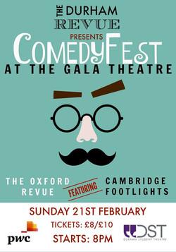 'The Durham Revue presents Comedyfest 2016' poster