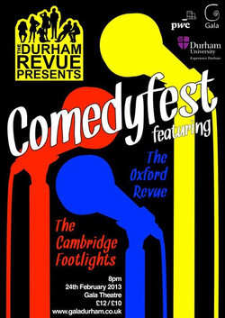 'Durham Revue presents Comedyfest 2013' poster