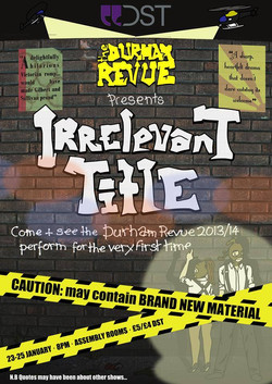 'Irrelevant Title' 2013 show poster