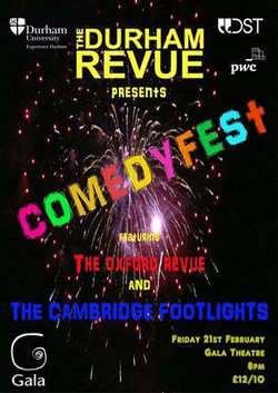 'The Durham Revue presents Comedyfest 2014' poster