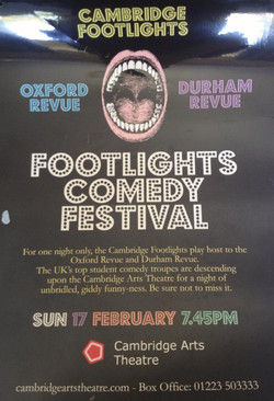 'Footlights Comedy Festival' poster (year unknown)