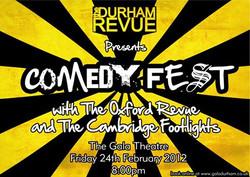 'The Durham Revue presents Comedyfest 2012' poster