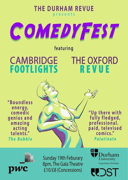 'The Durham Revue presents Comedyfest 2017' poster