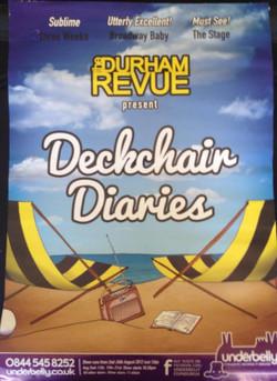 'Deckchair Diaries' - 2012 Edinburgh Fringe Festival poster