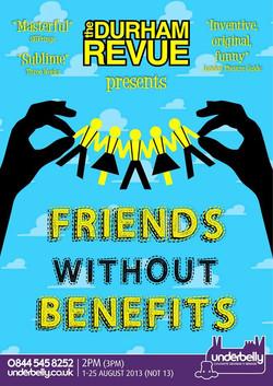 'Friends Without Benefits' - 2013 Edinburgh Fringe Festival poster