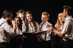 The 2015/16 Revue rehearsing at The Assembly Rooms, Durham