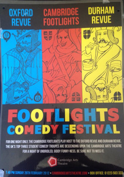 'Footlights Comedy Festival' 2012 show poster