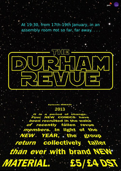 The Durham Revue show poster 2013