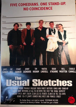 'The Usual Sketches' 1997 show poster