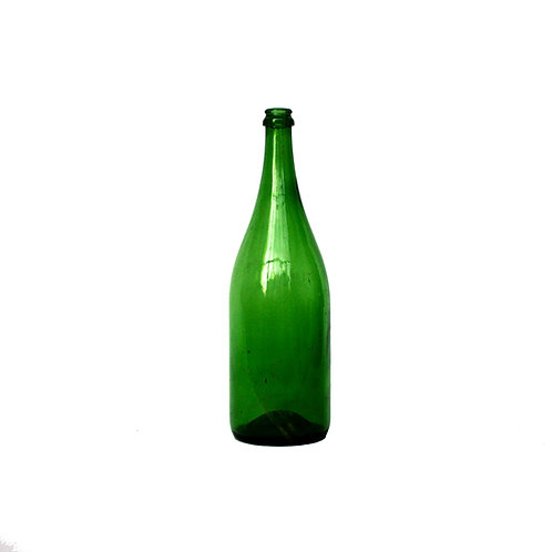 Large Vintage green glass milk bottle from Sweden early 1900s