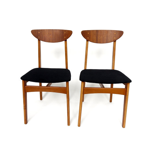 Stunning small teak and birch frame chair from Sweden 1950s
