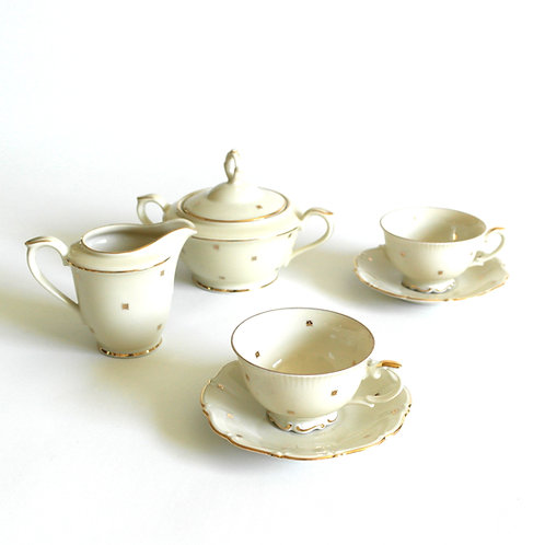 Hackefors Sweden hand painted coffee set early 1900s
