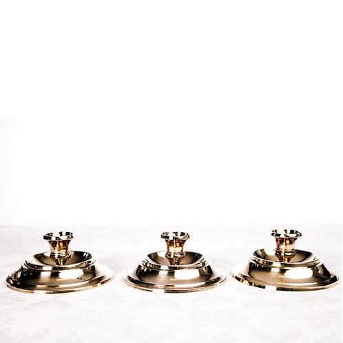 Early 1900s brass candleholders