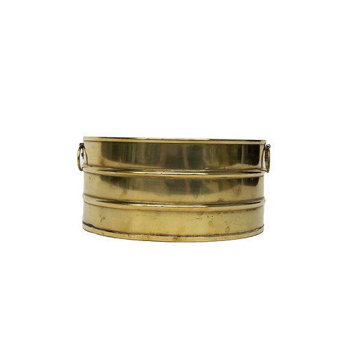 Vintage brass pot with two small handles from Sweden mid century