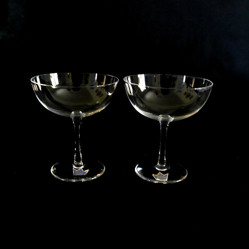 Antique Kosta Boda small glasses from Sweden early 1900s