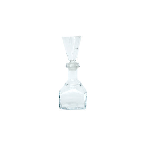 Hand blown small decanter with snaps glass/cork from Sweden early 1900s