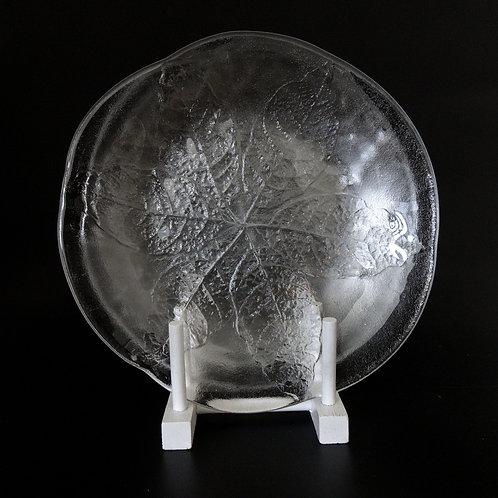 """Kosta Boda large size glass plate design """"Party"""" designed by Göran Wärff"""