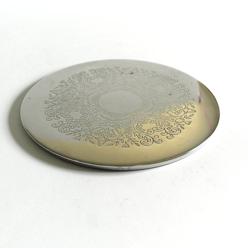 Vintage silver plated underlay for s from Sweden mid-century for sauce pans