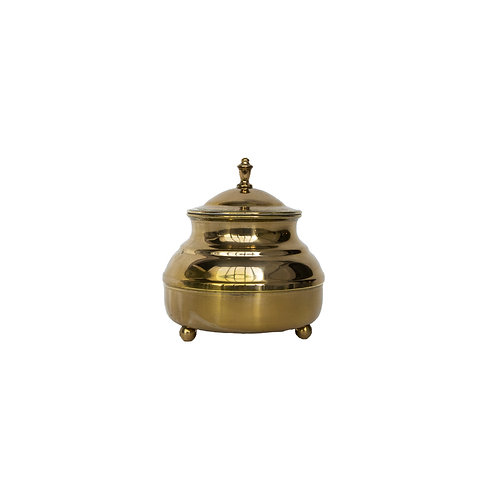 Small Brass Container with lid rom Sweden early 1900s