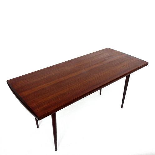 Retro Teak slim design coffee table from Sweden 1950s