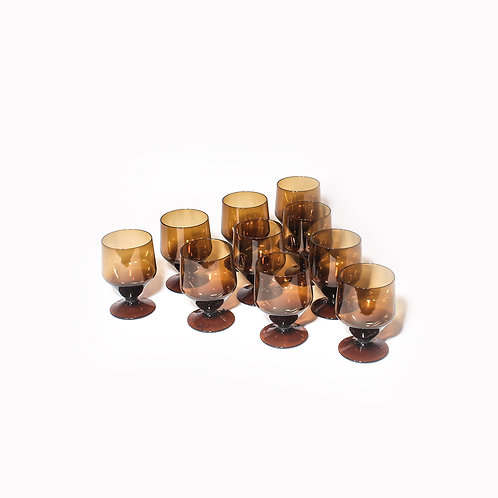 Brown wine glasses Sweden 1960s