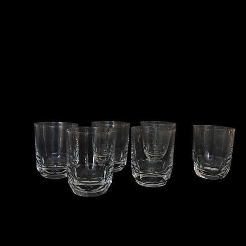Small vintage crystal drinking glasses from Sweden mid-century