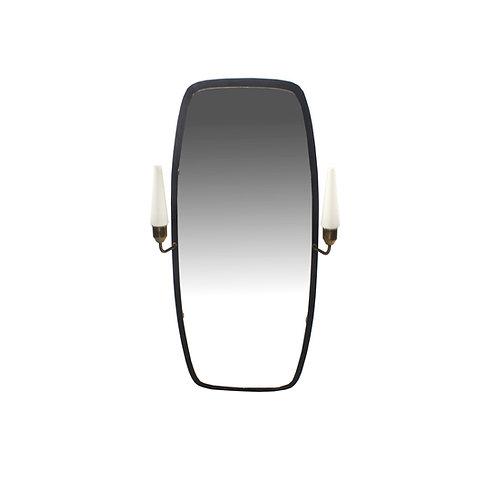 Mid-century mirror with lights