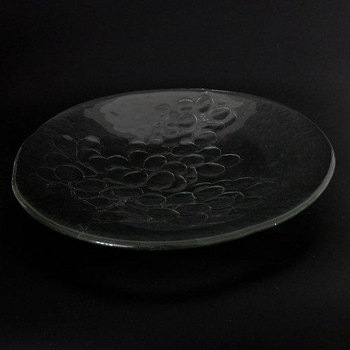 "Kosta Boda design ""Grape"" Large glass plate/dish designed by Anna Wärff"