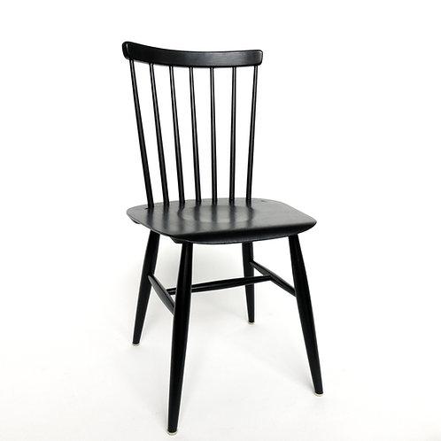Edsbyverken black painted retro chair from Sweden 1950s