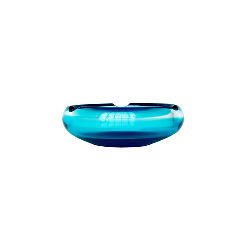 Vintage Blue Glass ashtray from Sweden 1970s