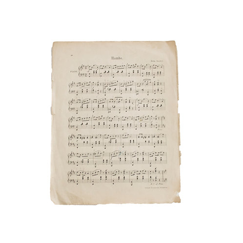 Antique musical sheets