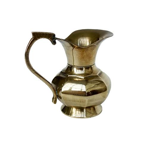 Vintage small milk jug in brass from Sweden early 1900s