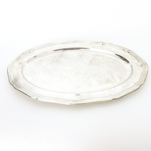Large Oval Antique Silver plated platter from Sweden early 1900s