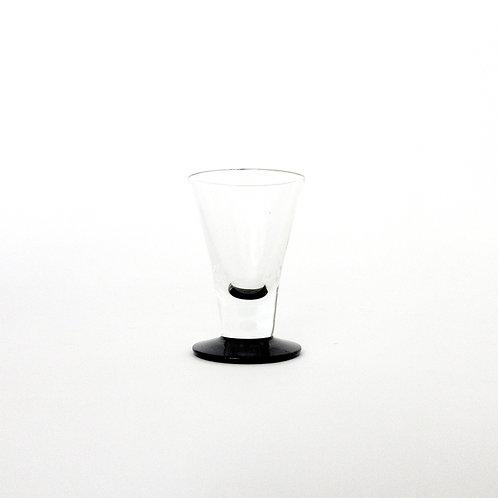 Vintage set of Snaps Glasses set of six from Lindshammar designed by Gunnar A