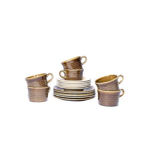 """Norwegian Tea Set in glazed ceramic from """"Stavanger"""""""