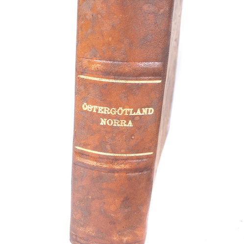 Antique leather cover book