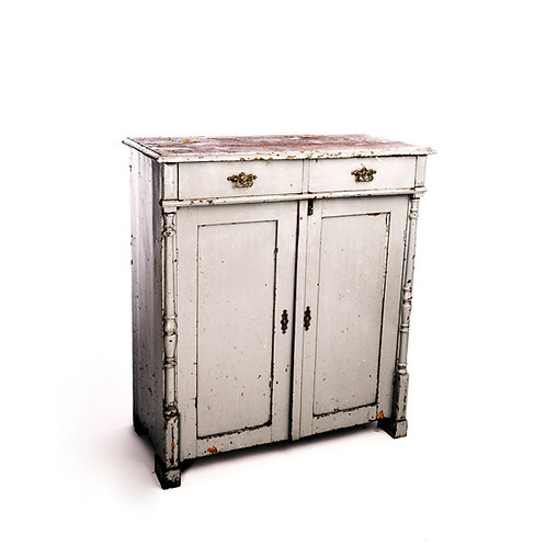 Antique kitchen cabinet early 1900s in painted pine