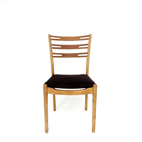 Stunning retro chair in oak and birch from Sweden 1960s